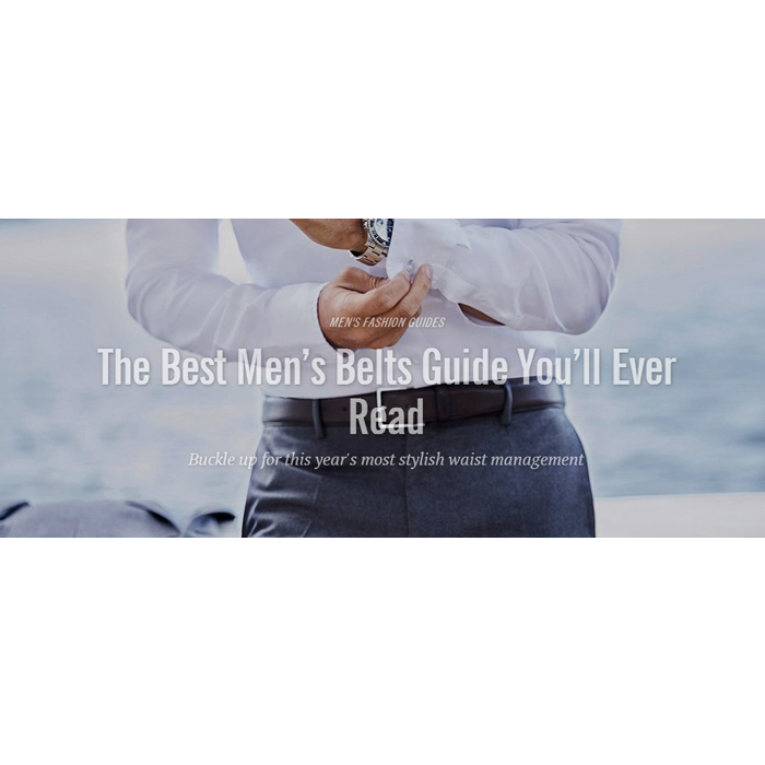The complete guide to men's belt which you never read