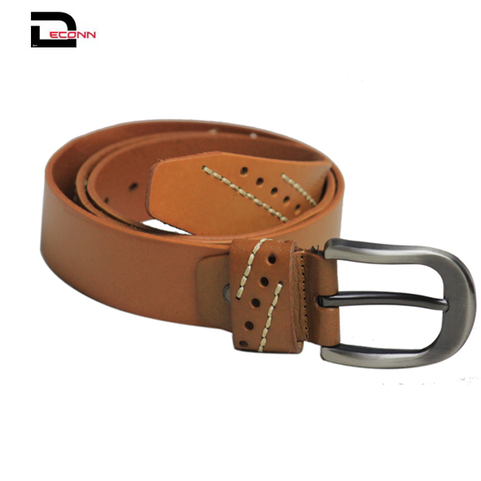 Mens fashion casual high quality pu dress waist belt with zin alloy buckle  - 副本