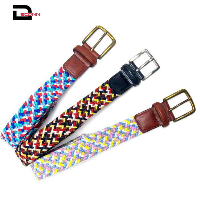 Elastic Stretch Belts Braided Fabric Belt Colorful Woven Belts - 副本