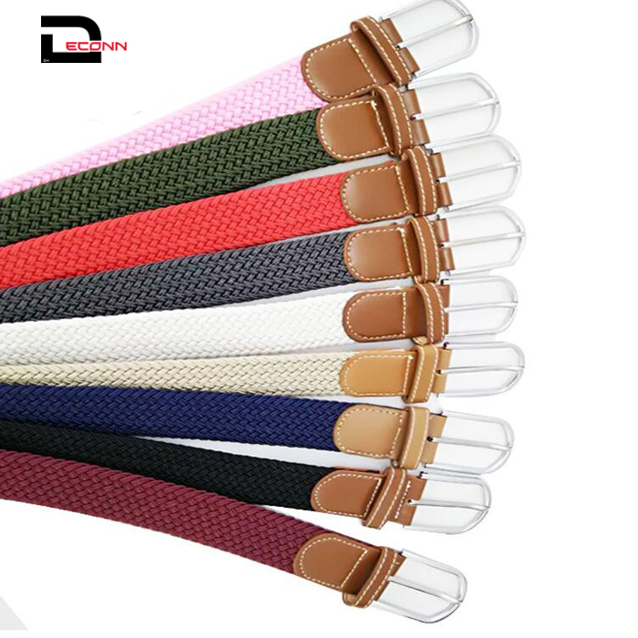 Braided Woven strecth Elastic Fashion Adjustable  Belt for Women - 副本