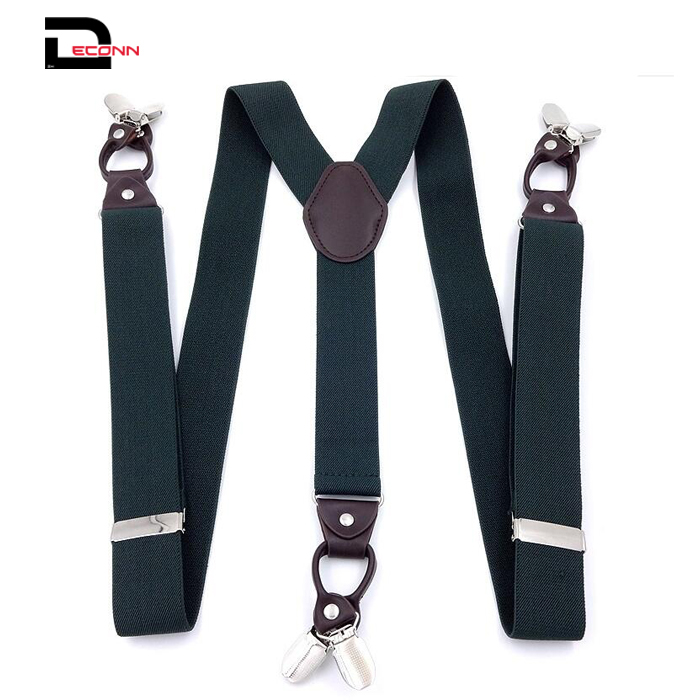 Suspenders for Men Leather Button End Elastic Tuxedo Y Back Mens Suspenders Pant Braces
