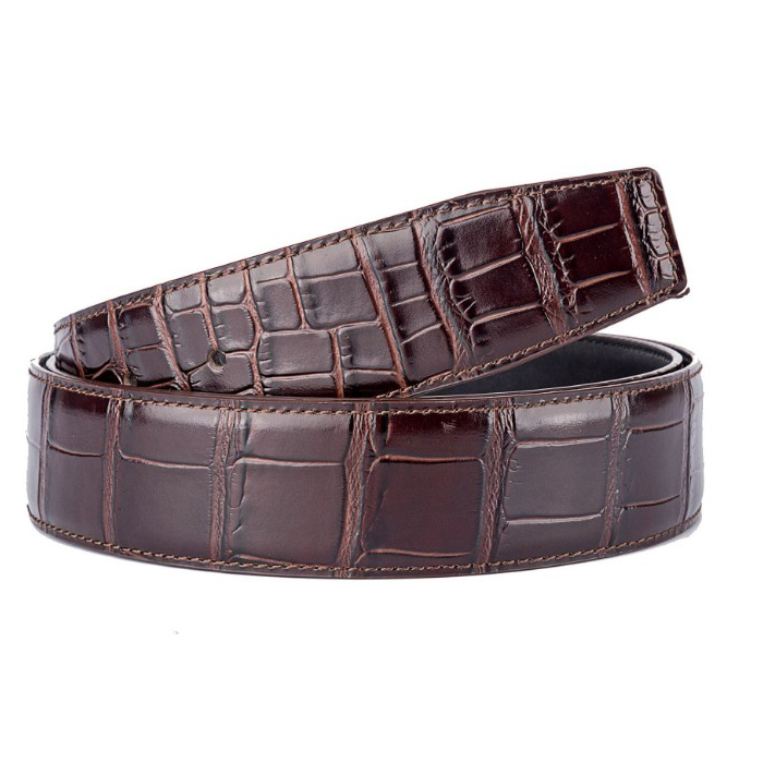 Casual Jean Genuine Leather Crocodile Pattern Men Belt